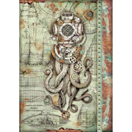 Octopus - Rijstpapier A4