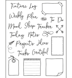 Bujo/Kalender Notes, Tracker & Co. - Clearstamp A5