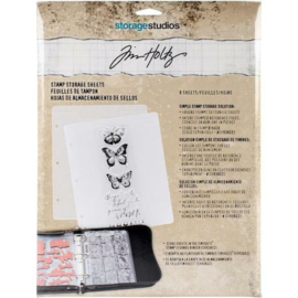 Stamp Storage Sheets - 8 pcs