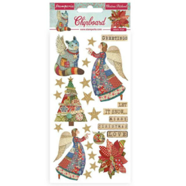 Christmas Patchwork - Chipboard