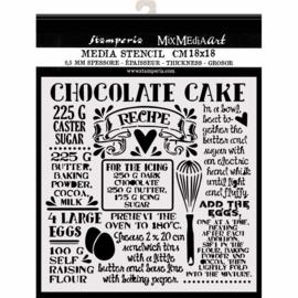 Chocolate Cake - Stencil