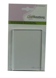 Acrylic Clear Stamp Block - 105x74mm - 8mm