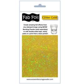 Wow! Fabulous Foil Glitter Gold