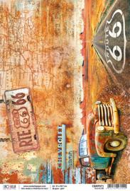 Route 66 - Rijstpapier A4