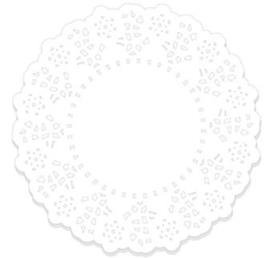 Doilies Lily White - 10 pcs