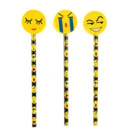 Lachgezicht gum met potlood