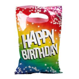 Uitdeelzakjes Happy Birthday, 6st