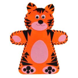 Maak je eigen Handdier tijger
