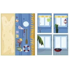 iWallz Strand cabine stickers