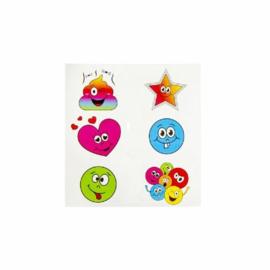 Fun stickers lachgezicht
