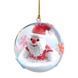 Kerstbal met kerstman