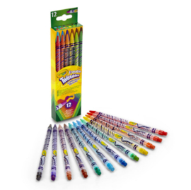 Crayola Draaikleurpotloden met Gum, 12st.