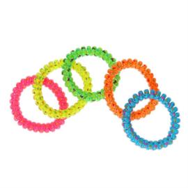 Armband neon met sterretjes