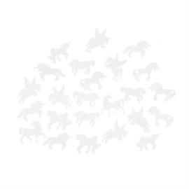 Glow In The Dark witte Eenhoorn stickers
