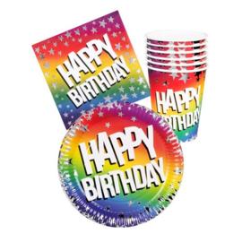 Feestset Happy Birthday, 24dlg