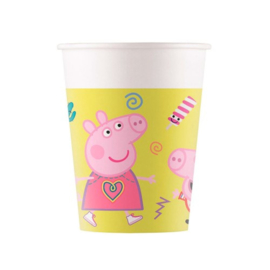 Peppa pig bekers 8st