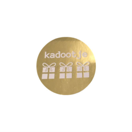 Sticker Kadootje goud