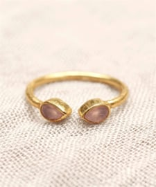 ring - rose quartz / maat 52