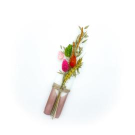 Set DIP DYE met droogbloemen ( bruin )