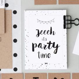 Feestuitnodigingen ( set van 10 kaarten )