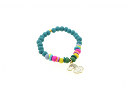 Armband soft blue rainbow