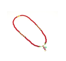 Ketting red seahorse