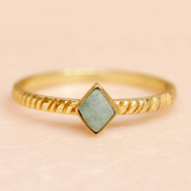 ring - amazonite diamond