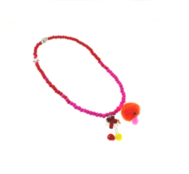 Ketting red pompon