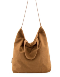 baya washed linen shopper - caramel fudge