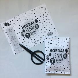 Traktatie Chips wikkel 'Hoera!' DIY