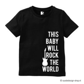 Babyshirt 'Baby Rock + naam'