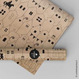 Inpakpapier  | Sinterklaas kraft | 30 x 100 cm