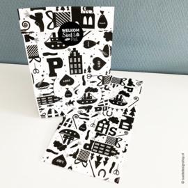 Papieren cadeauzak  | Sinterklaas