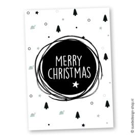 Kerstkaart 'Merry Christmas'