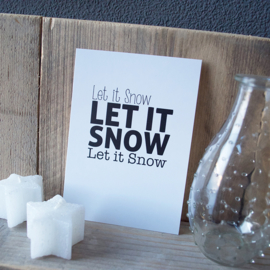Kerstkaart 'Let it snow'