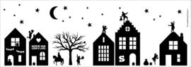 """Sinterklaas straatje """"Huisje van"""" WIT"""