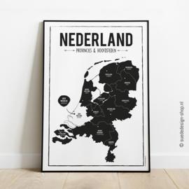 Poster 'Nederland Provincies & hoofdsteden'