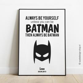 Poster 'Batman' met naam