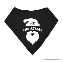 "Bandana slabbetje ""My first Christmas"""