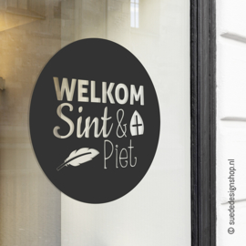 Raamsticker 'Welkom Sint & Piet'