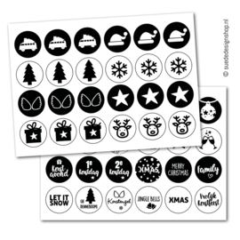 Stickers   December   48 stuks