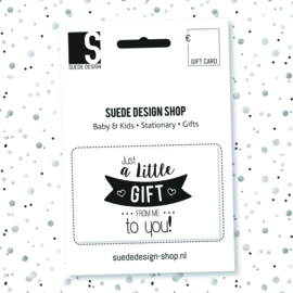 Suede design SHOP - Gift Card