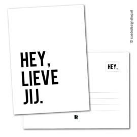 Kaart | Hey, lieve jij.