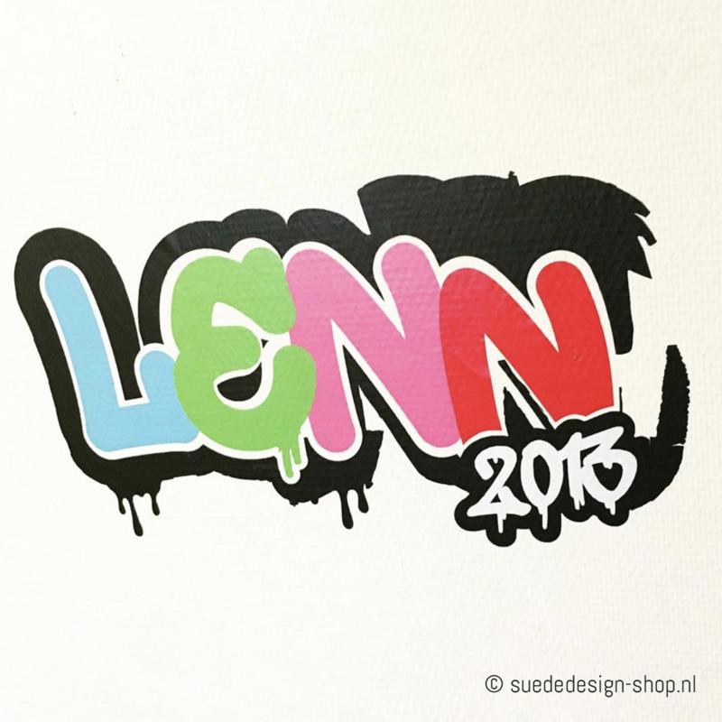Muursticker 'Grafitti Naam'