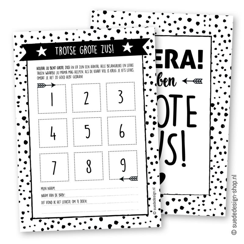 Sticker kaart | Grote Zus