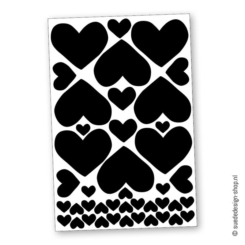(muur)stickers 'Hart'