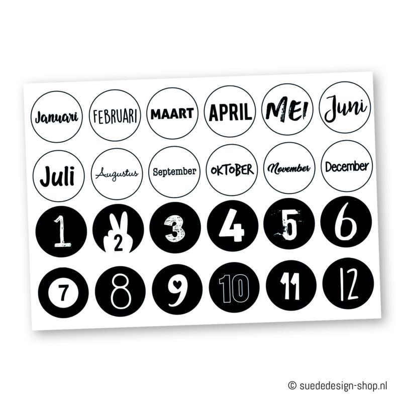 "Stickers ""Kalender"" (24 stuks)"