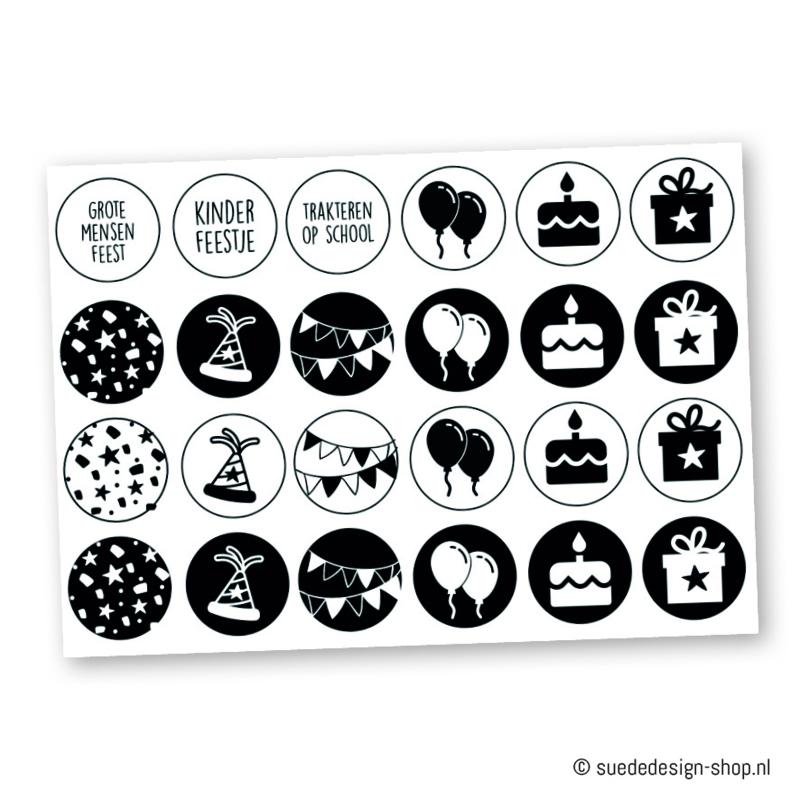 "Stickers ""Verjaardag"" (24 stuks)"