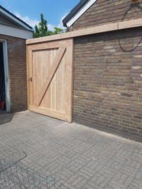 Stal of schuifdeur voor buiten van Douglas hout