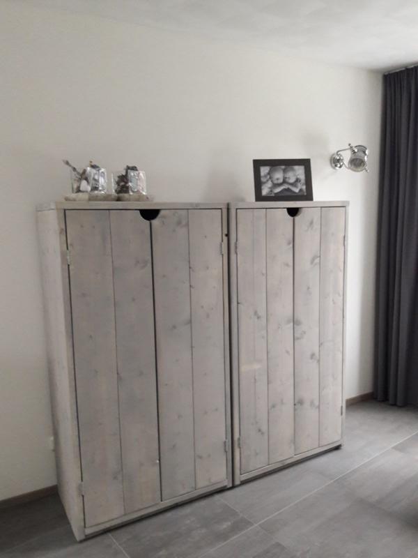 Kast Van Nieuw Steigerhout In De Grey Wash Kasten Roverwood